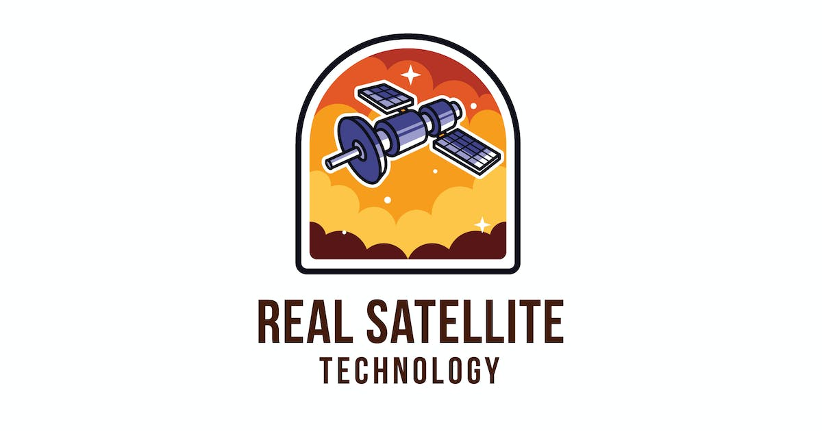 Download Real Satellite Technology Logo Template by IanMikraz