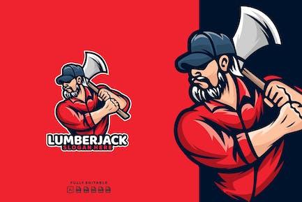 Lumberjack Timber Axe Logo