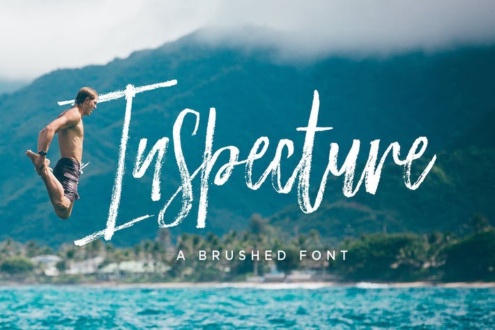 Thumbnail for Inspecture Brush Font