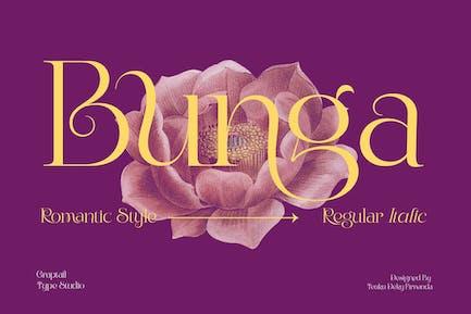Bunga|Romantic Font