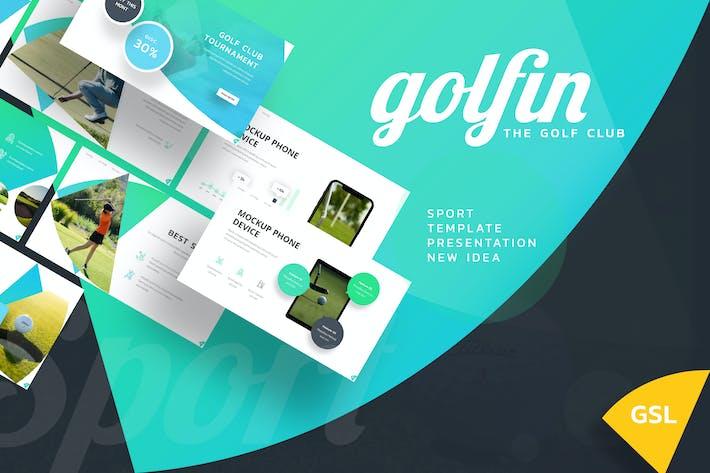 Golfin - Спорт Google слайды Шаблон