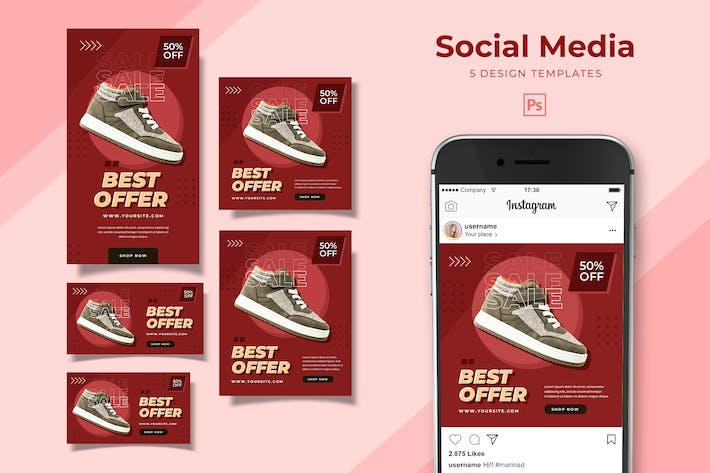 Thumbnail for Footwear Social Media Pack