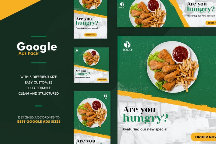 Thumbnail for Google Ads Web Banner Restaurant
