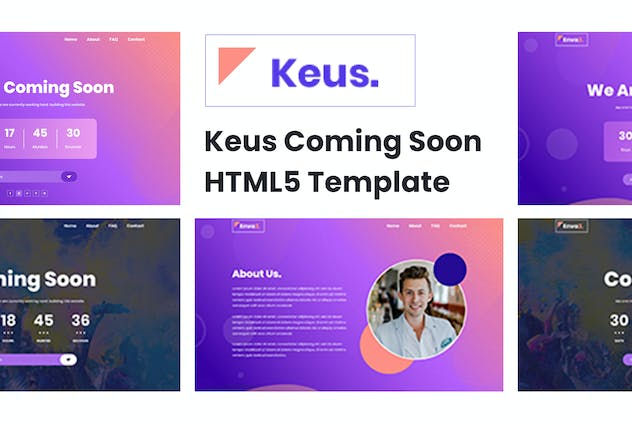 Keus - Creative Coming Soon HTML5 Template - product preview 6