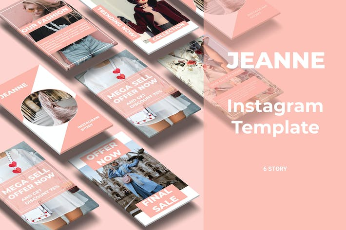 Thumbnail for Jeanne - Fashion Social Media Story Part 3