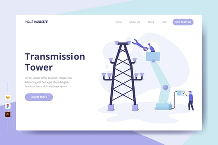 Transmission Tower - Landing Page