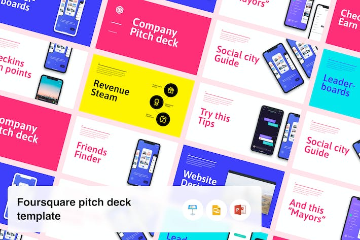 Thumbnail for Startup Pitch Deck Template - Based on Foursquare