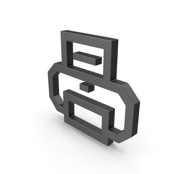Symboldrucker Schwarz