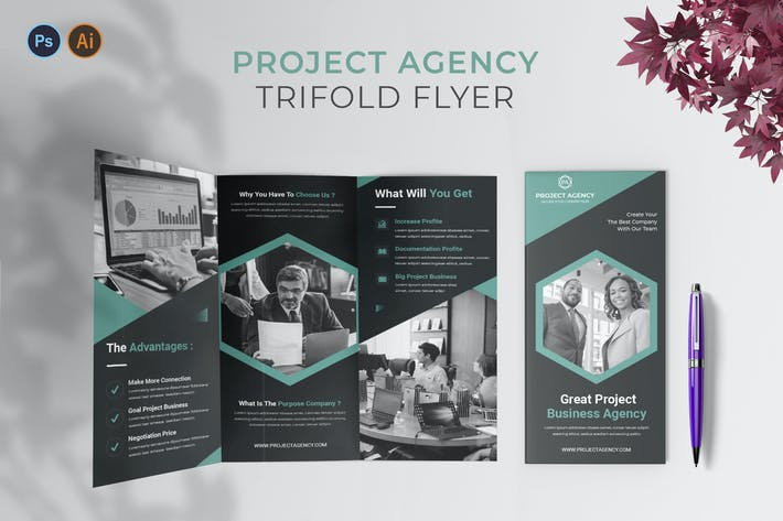 Thumbnail for Project Agency – Trifold Brochure