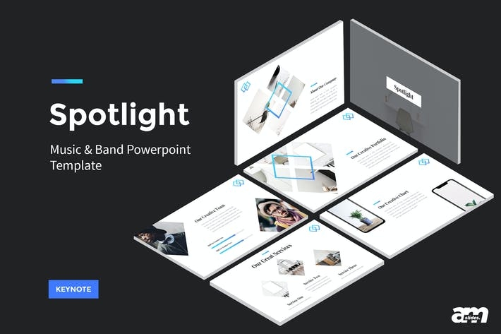 Thumbnail for Spotlight - StartUp Keynote Template