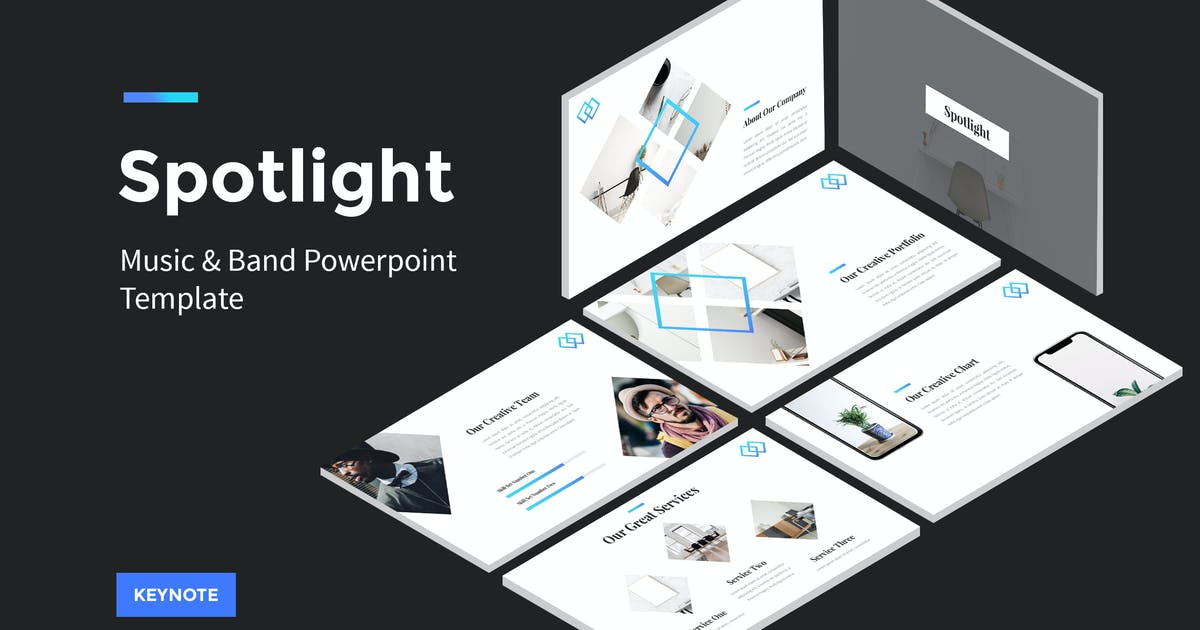Download Spotlight - StartUp Keynote Template by amsupply