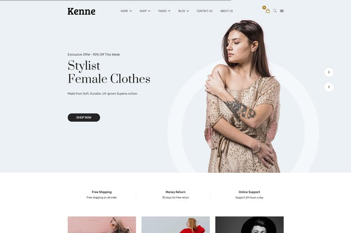 Thumbnail for Kenne - Fashion Store HTML Template