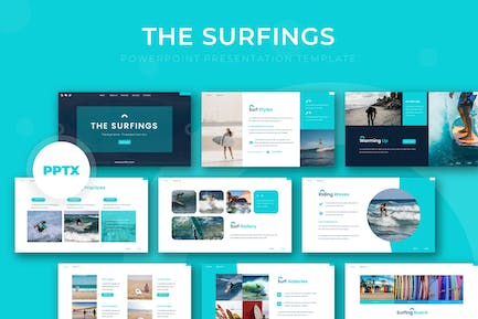 The Surfing - Powerpoint Template