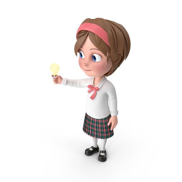 Thumbnail for Cartoon Girl Has An Idea