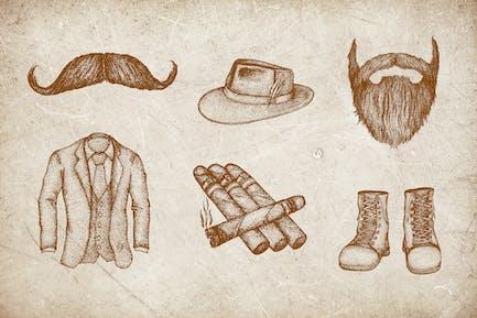 Vintage Illustration - Man Fashion