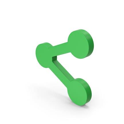 Symbol Share Button Green