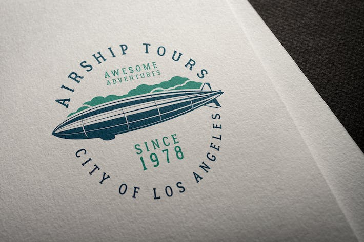 Thumbnail for Airship Tours Logo Template
