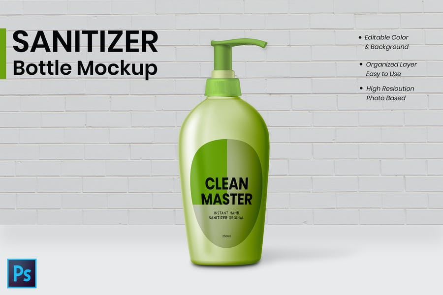 Sanitizer Bottle Mockup