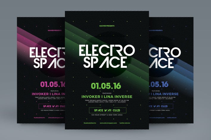 Cover Image For Electro Space Sound Flyer
