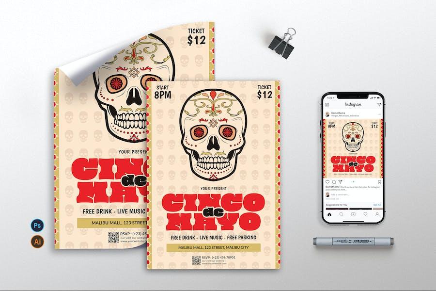 Cinco De Mayo vol.2 - Flyer, Poster, Instagram RB
