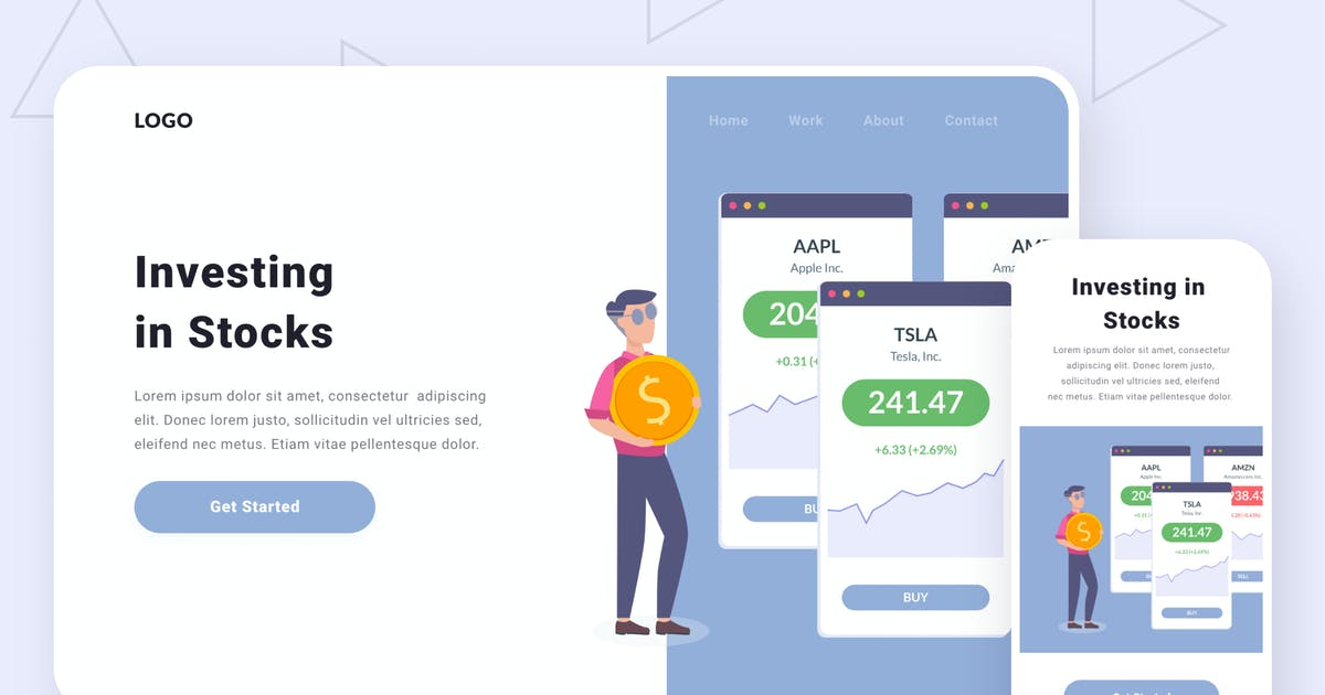 Download Investing in stocks illustration by buydesign