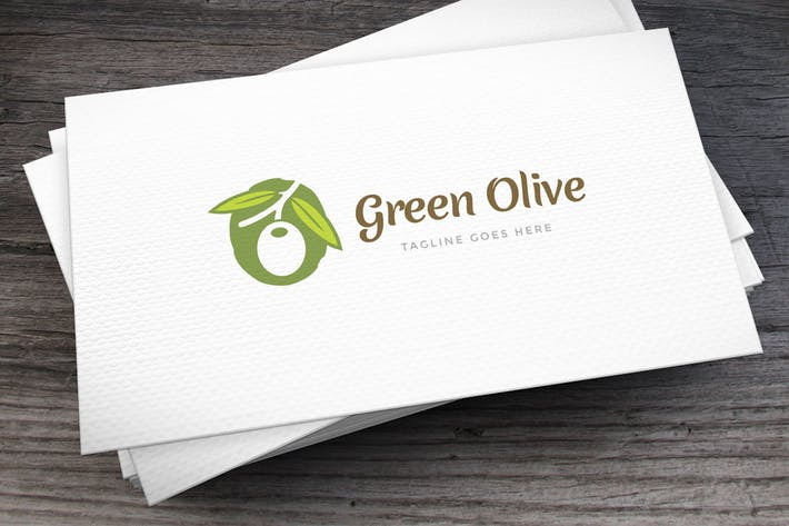 Thumbnail for Green Olive Logo Template