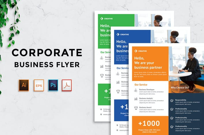 Thumbnail for Corporate Business Flyer v9 - [code YP]