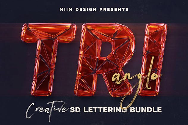 Trianglo- 3D Lettering