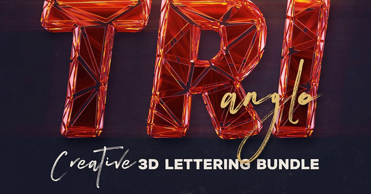 Download Trianglo- 3D Lettering by cruzine