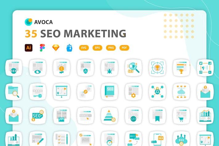Avoca - SEO Marketing Icons