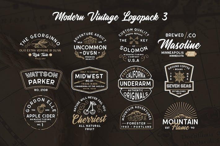 Thumbnail for Moderno Vintage Logopack 03