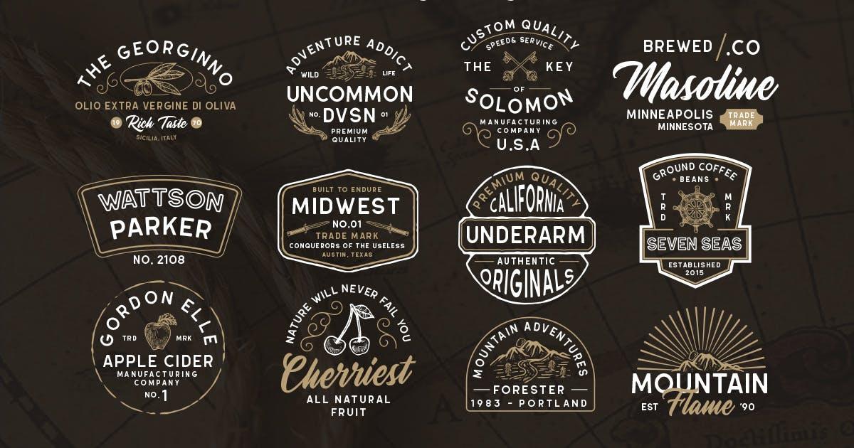 Download Modern Vintage Logopack 03 by letterhend