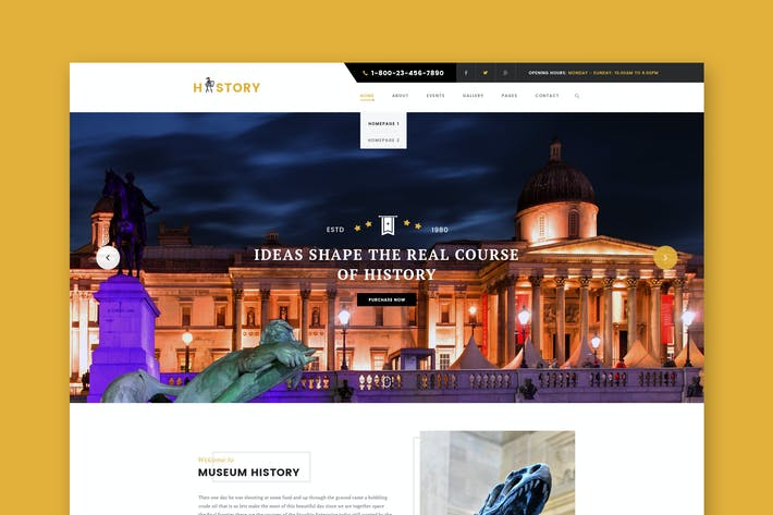 Thumbnail for History- Museum & Exhibition HTML Template