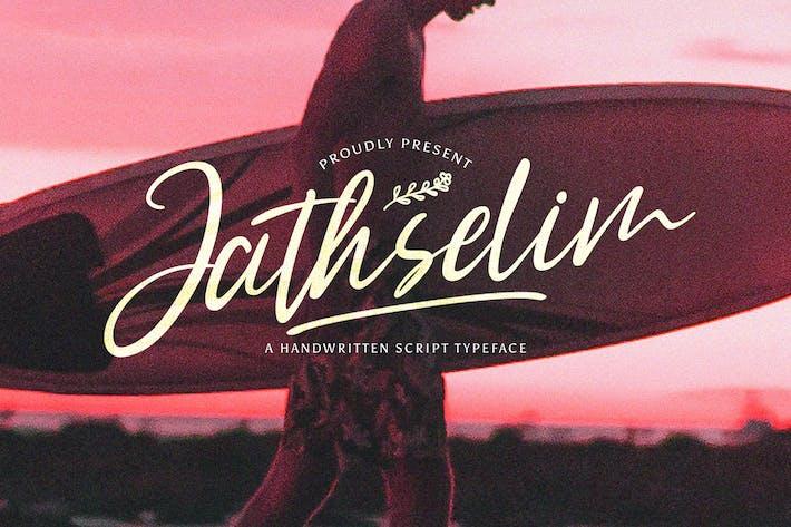Thumbnail for Jathselim - Handwritten Font