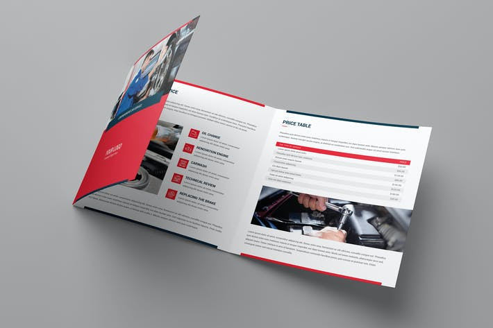 Thumbnail for Brochure – Auto Repair Tri-Fold Square