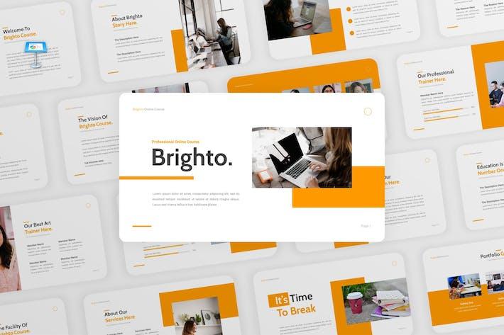 Brighto - Online Course Google Slides Template