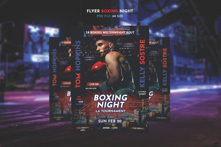 Thumbnail for Boxing Flyer Template