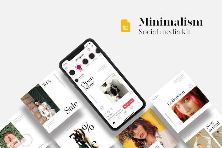 Thumbnail for Minimalism Social Media Kit - Google Slides