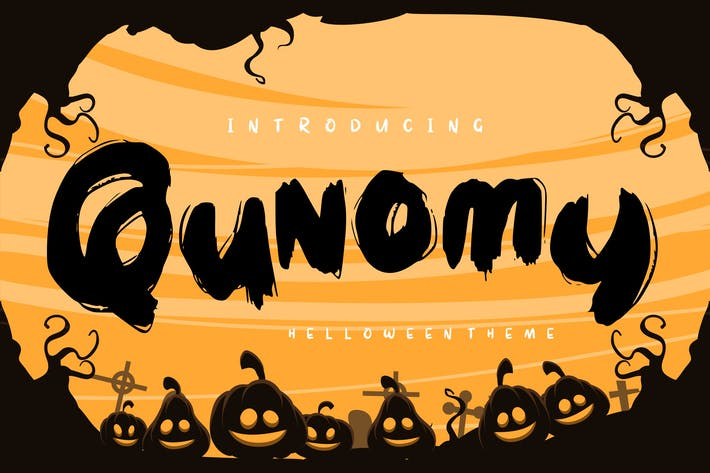 Thumbnail for Qunomy | Helloween Font Theme