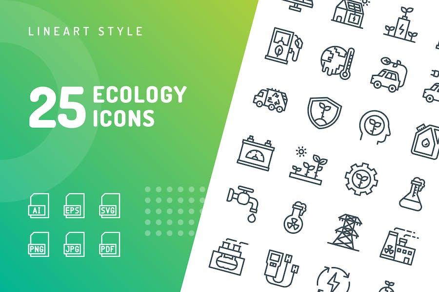 Icons der Ökologie Linie