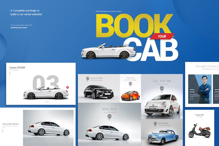 Thumbnail for Zocari car rental ui kit