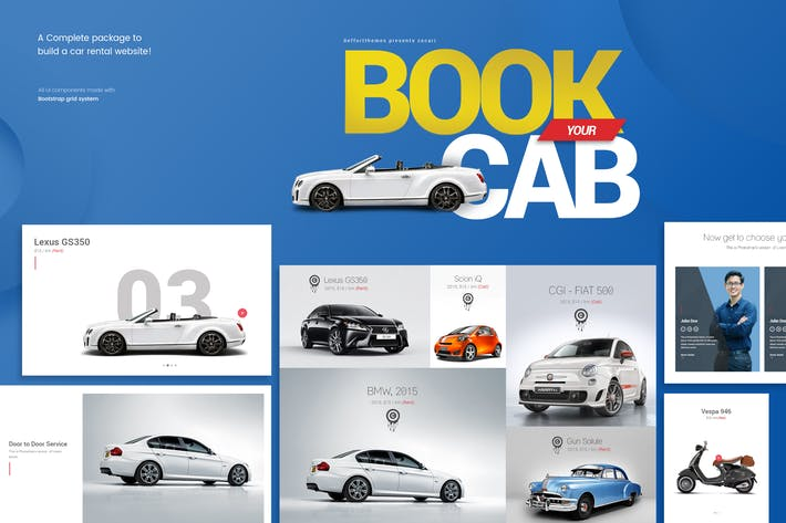 Cover Image For Zocari car rental ui kit