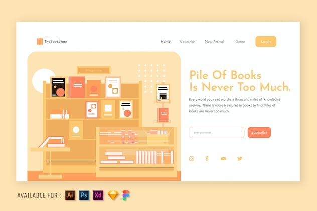 Books Collection - Web Illustration