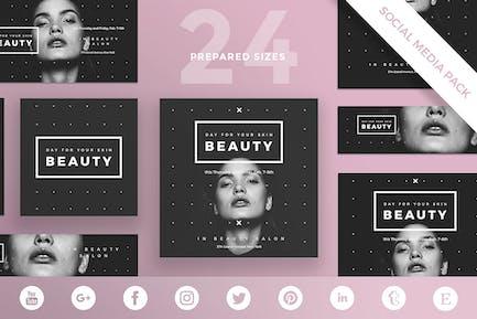 Beauty Salon Social Media Pack Template