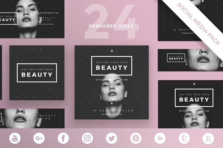 Thumbnail for Beauty Salon Social Media Pack Template