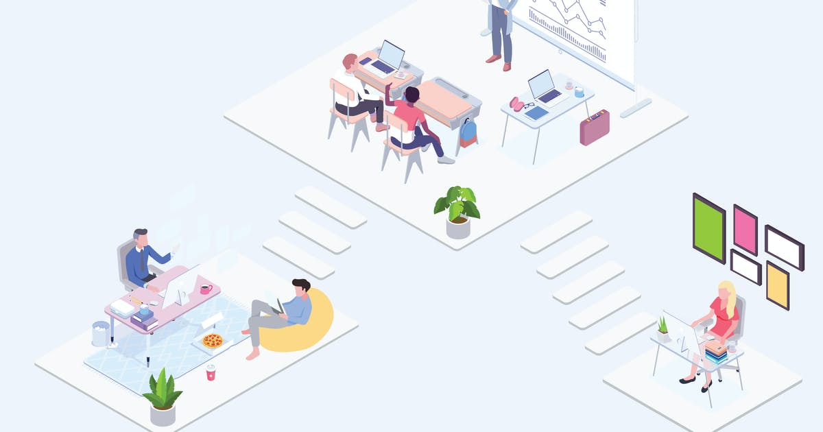 Download Technology Class Isometric Illustration - G1 by angelbi88