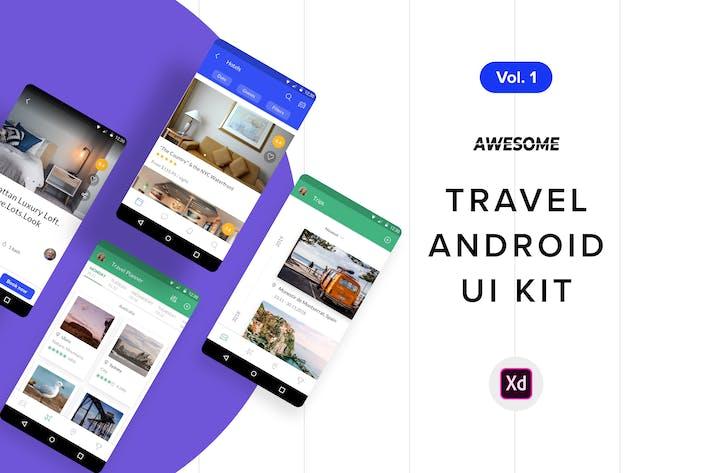 Thumbnail for Android UI Kit - Travel Vol. 1 (Adobe XD)