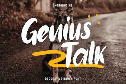 Genius Talk - Fuente de pincel