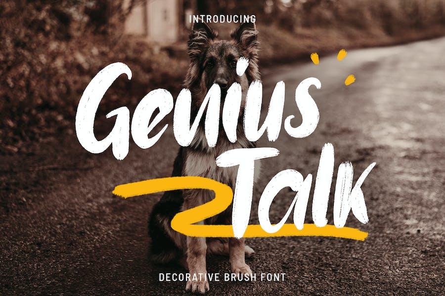 Genius Talk  - Brush Font
