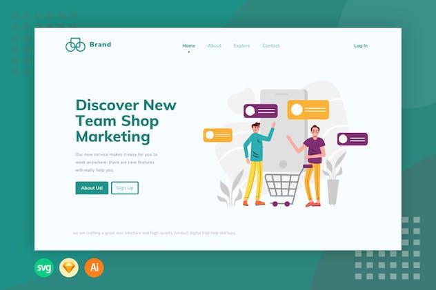 E-commerce Cart Chat List - Illustration Web